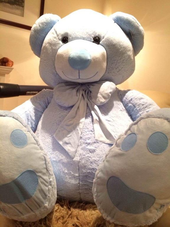 Roly Teddy Bear 140cm extra fat Baby Blue